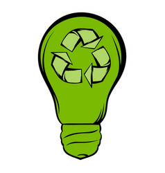 eco energy concept icon cartoon vector image