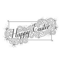 Happy easter calligraphic inscription vector