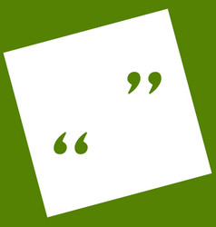 Quote sign   white icon vector