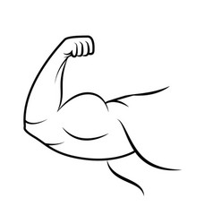 Strong arm icon line art vector