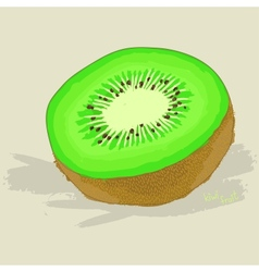 Hand drawn fresh kiwi fruit vector