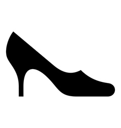 Symbol of female shoe vector