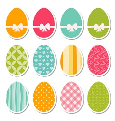 Set of egg stickers vector