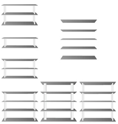 Shelve for room decoration vector