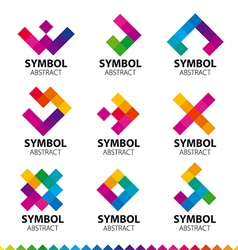 Biggest collection of logos of abstract modules vector