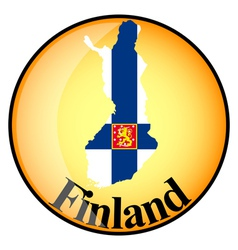 Button finland vector
