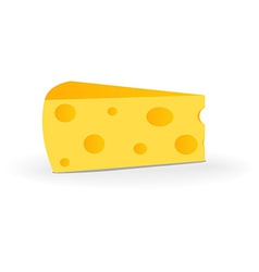 Swiss cheese isolated on white background vector
