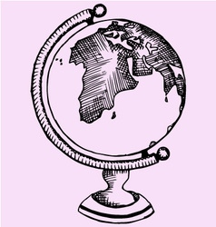 Globe world vector