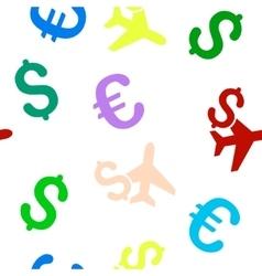 Aviation business seamless flat pattern vector