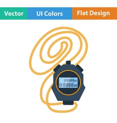 Flat design icon of stopwatch vector