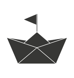 Baby toy sailboat paper isolated icon design vector