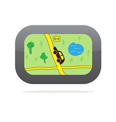 Gps navigation device icon vector
