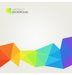Abstract polygonal rainbow background vector image