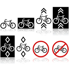Bicycle signs vector image vector image
