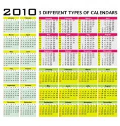 big set of 2010 calendars vector image vector image