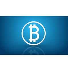 Bitcoin blue background vector