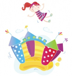 Bouncy castle vector