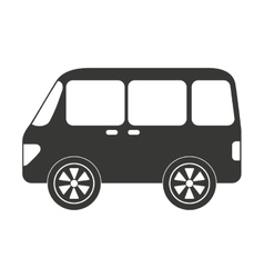 Bus style car isolated icon design vector