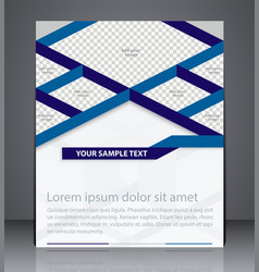 Business brochure flyer design layout design vector