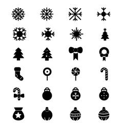 Christmas icons 1 vector