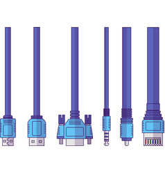 connect cable vector image