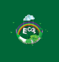 Eco green city designcrescent vector