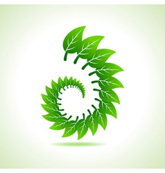 Eco leaf icon vector image vector image