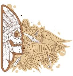 Engraving sagittarius vector