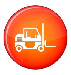 Forklift icon flat style vector image vector image