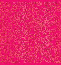 golden on hot pink abstract doodle drawing vector image vector image