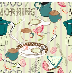 good morning seamless background vector image vector image