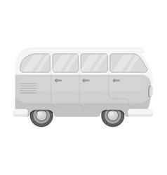 green bushippy single icon in monochrome style vector image