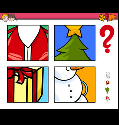 guess xmas items cartoon game for children vector image