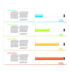 Infographic workflow layout diagram number options vector