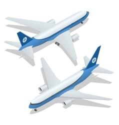 Large passenger Airplane 3d isometric vector image vector image