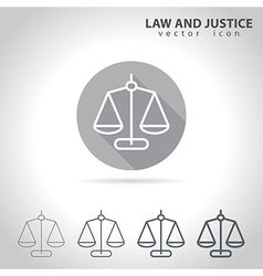 Law and justice outline icon vector