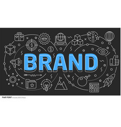 Lines template brand vector