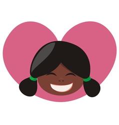 lovely heart girl vector image vector image