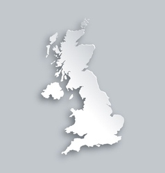 Map of United Kingdom vector image vector image