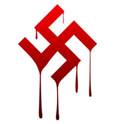 Melting swastika vector