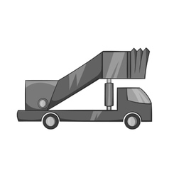 Passenger gangway icon black monochrome style vector