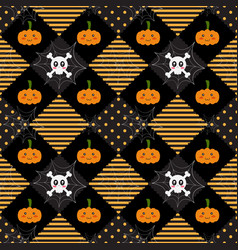pattern halloween geometry vector image vector image