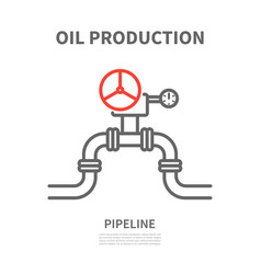 Pipeline in linear style vector