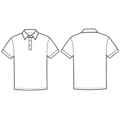 Polo t-shirt vector image vector image