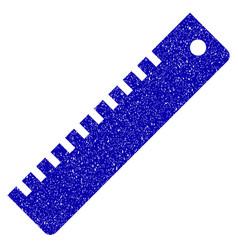 Ruler icon grunge watermark vector