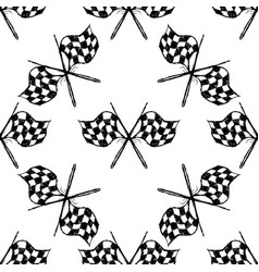 Seamless pattern with tribal racing checkered flag vector