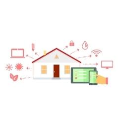 Smart house concept icon flat design vector