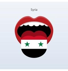 Syria language abstract human tongue vector