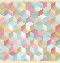 vintage geometric seamless pattern vector image vector image