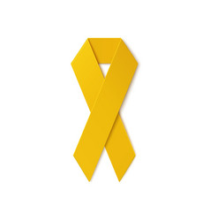 Yellow ribbon isolated on white background vector